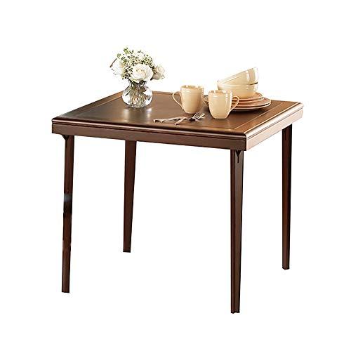 MXueei Bureau d'ordinateur ZfgG Simple Pliante Table en Bois Petit Appartement Table à Manger en Plein air Portable Table carrée Maison Jardin pelouse Table Pliante