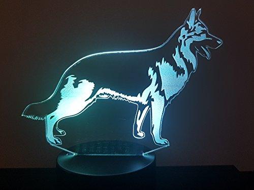 Deutscher Schäferhund, 3D-Lampe LED