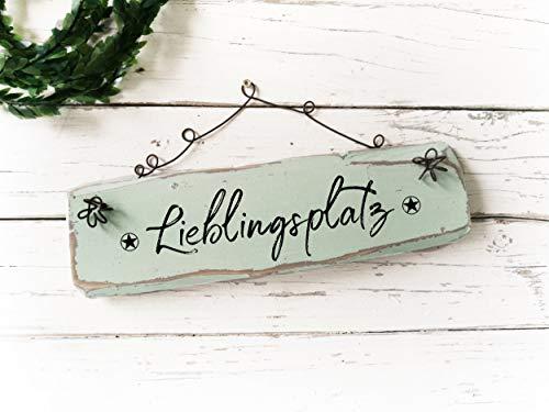 yyyhkkk Gartendeko Holzschild Shabby Chic Vintage Holzschild Altweiß Grau Dekor Balkondeko Dekoration Personalisiert