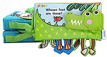 Baby Cloth Book Educational Toys For Children Soft Fabric Feet Crocodile English Teaching Stereo Quiet Book Kids...