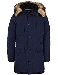 Armani Jeans Navy Padded Water Repellent Hooded Jacket