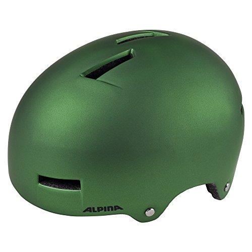 ALPINA Airtime Fahrradhelm, Green Metallic, 52-57 cm