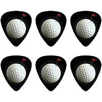Golf Ball Moon Flagge Golf Neuheit Gitarre Plektrum Plektron Picks Stärke Medium–Set of 6
