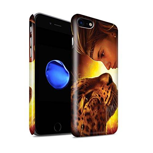 Officiel Elena Dudina Coque / Clipser Brillant Etui pour Apple iPhone 7 / Petit Panda/Bambou Design / Les Animaux Collection Face à Face/Tigre