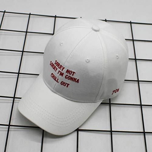 zlhcich Berretto da Baseball Estivo Creativo Cappuccio Giallo Cintura Lettere Ricamate Curve Lungo Il Cappello per Viaggiare Cappello da Sole