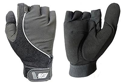 Fjs New Full Thumb Half Finger Gel Padded Palm Wheelchair Specific Sport Gloves