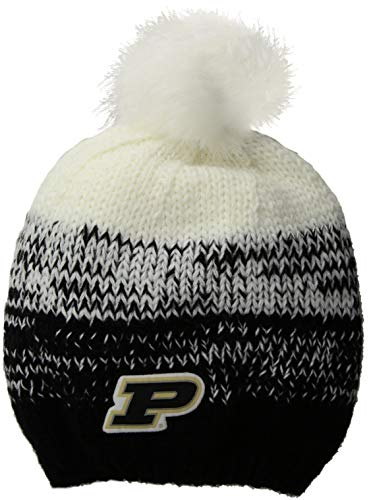 Ouray Sportswear NCAA Purdue Boilermakers Men's Ascent Beanie, Black/White, One Size