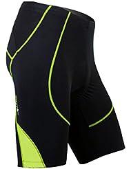 Santic Hombres de 3d Padded Ciclismo Pantalones cortos para bicicleta de carretera para hombre, hombre, color verde, tamaño medium