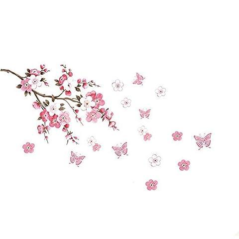 BOMIEN Sakura Flower Removable Wall Sticker Paper Mural Art Decal Home Room Decor
