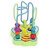 Merssavo Hölzernes Wunder beschäftigt Scheunenhof Bead Labyrinth für Kinder Geschenk pädagogische Spielintelligenz Spielzeug