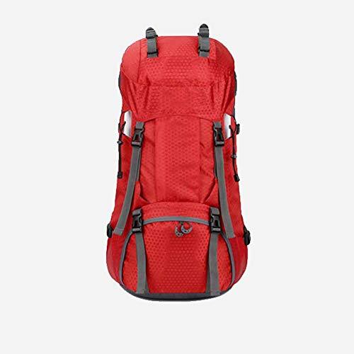 LXJL 60L Leichter Wanderrucksack, multifunktionale Wasserabweisende lässige Camping Trekkingrucksack für Radfahren Reisen Klettern Bergsteiger Outdoor-Sport,A
