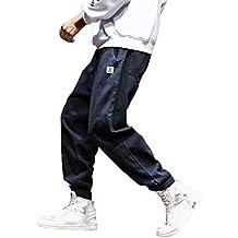 c99352bc20d4ef Dragon868 Pantaloni Uomo Cotone Pantaloni Larghi Comode con Tasche Hip-Hop  Stile Pantaloni Harem Leggere