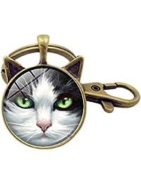 Kigurumi Llavero Colgante pequeño Llavero Creativo para automóvil - Gato