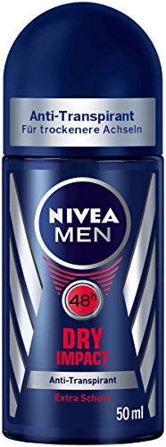 Nivea Roll-on (Nivea Men Dry Impact Anti-Transpirant Deo-Roller, 6er Pack (6 x 50 ml))