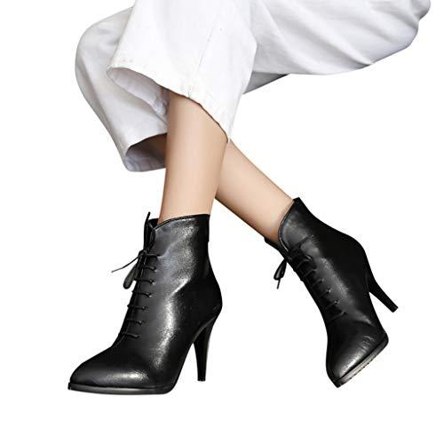 TianWlio Frauen Herbst Winter Stiefel Schuhe Stiefeletten Boots Keile High Heel Schuhe Stiefel Quaste Stiefeletten Seitlicher Reißverschluss Kurze Stiefel Schwarz 43