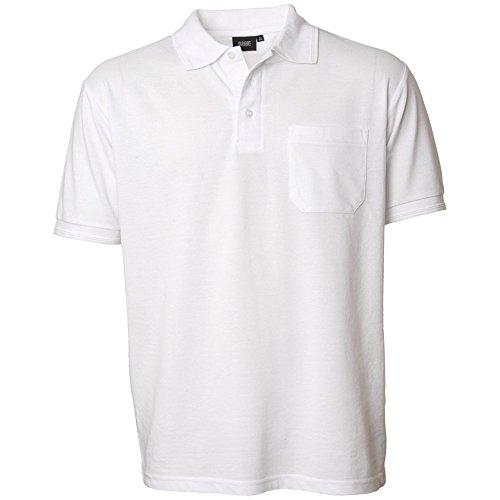 """Preisvergleich Produktbild Pionier 41189-6XL Klassisches Poloshirt 520"""" mit Tasche Größe, Weiß, 6XL"""