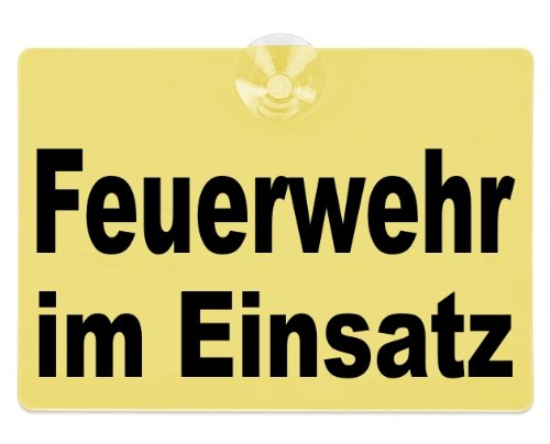 Preisvergleich Produktbild Warnschild Feuerwehr im Einsatz 20x15cm gelb