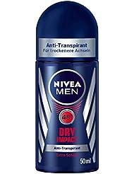 NIVEA Men 6er Pack Deo-Roller für Männer, Anti-Transpirant-Schutz, 6 x 50 ml Roll-On, Dry Impact
