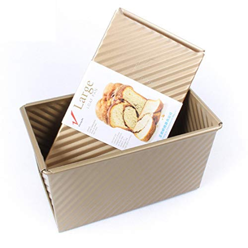 LouiseEvel215 Backformen Laib Pan Aluminium Schneetoast Box Käse Box Backen Braten Brownie Rechteckige Kuchen Kleine Toastbrotform Kuchenform Aluminium-non-stick Loaf Pan