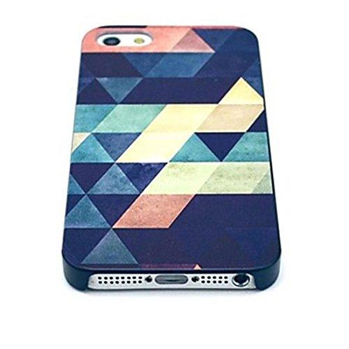NightKid Motifs géométriques de l'art moderne et du design coque (iPhone 6S Plus iPhone 6S iPhone 6 Plus iPhone 6 iPhone 5C iPhone 5/5S iPhone 4/4S )(iPhone 6S Plus/5.5,Multi-coloured-coloured) Multi-coloured-coloured