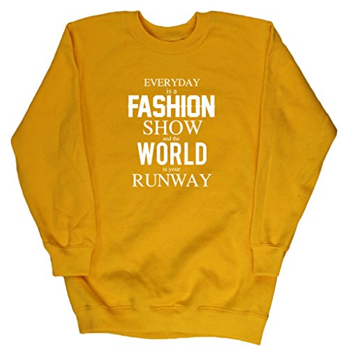 hippowarehouse-everyday-is-a-fashion-show-and-the-world-is-your-runway-kids-unisex-jumper-sweatshirt