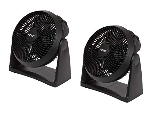 Práctico juego de 2 ventiladores como ventilador de mesa o de pared, utilizable con 3 niveles de potencia...
