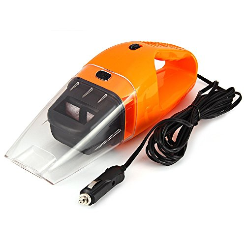 Price comparison product image New Car Vacuum Cleaner Wet and Dry Use Super Suction 5 Meters of Wire 12 V 120 W. Includes Accessories. Colour orange.