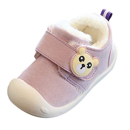 Beikoard Kinder Kleinkind Schuhe Baby-Baumwollschuhe Plus Samtschuhe Innen warme Schuhe für Männer und Frauen Erste warme flaumige ()