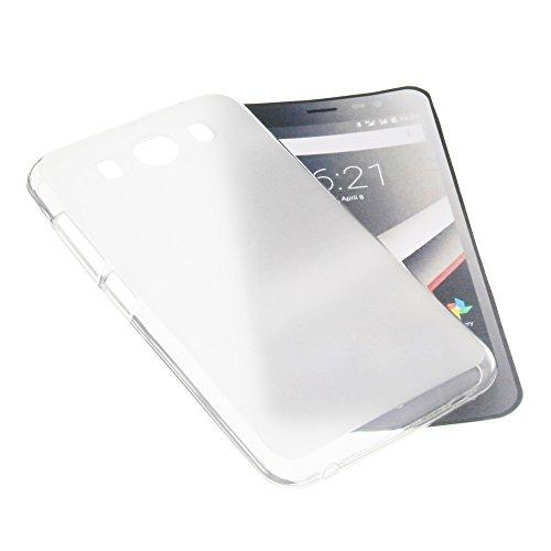 foto-kontor Tasche für Phicomm Clue L Gummi TPU Schutz Handytasche milchig transparent