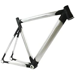 RIDEWILL para cuadro de bicicleta Fixie pista fijo aluminio cónico Aero (snap-on) tamaño 58/fijo cuadro pista Tapered tamaño 58Aero Marcos de aluminio (fijo)