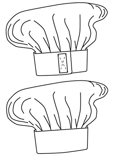 Kochmütze, Farbe zur Auswahl, Profimütze, Qualitäts-Arbeitskleidung, made in germany Bordeaux - 4
