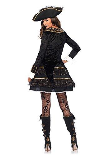 Imagen de leg avenue 855492piezas set de capitán pirata, mujer carnaval disfraz de alta mar, m, color negro/oro alternativa