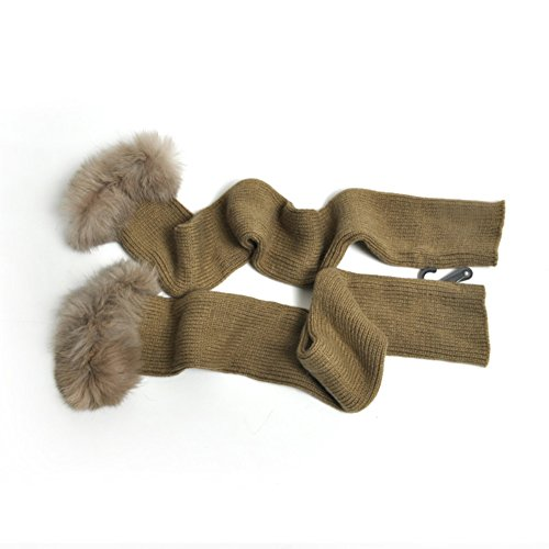 Autunno e inverno pišŽ lunga ladies' maglia guanti di lana caldi/ coniglio capelli super lunghi guanti mezze dita-D Unica