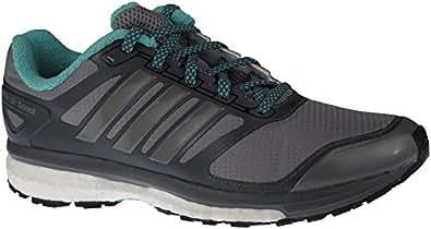 Adidas Supernova Glide Atr Running Shoes Tech Grey/black/vivid Mint 7.5 B(m) Us