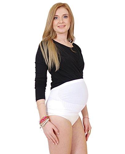 Fajas para embarazadas, confortable y soporte, sin costura, Blanco, blanco, Small