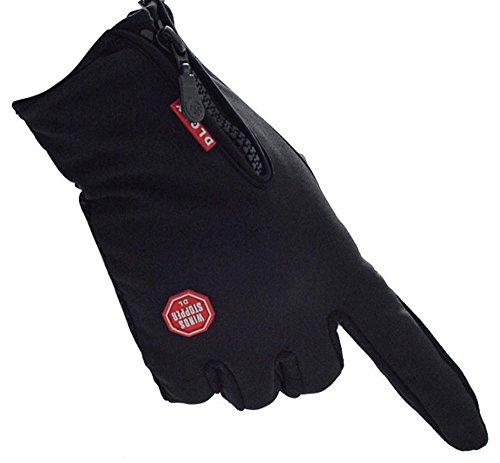 Herren Winter-Handschuhe Anti-Rutsch-Handschuhe Verdickte und wasserdichte Handschuhe für Outdoor-Aktivitäten wie Radfahren Bergsteigen Angeln Wandern Skifahren Fahren Reiten,Schwarz,L (Handschuh Reebok Baseball)