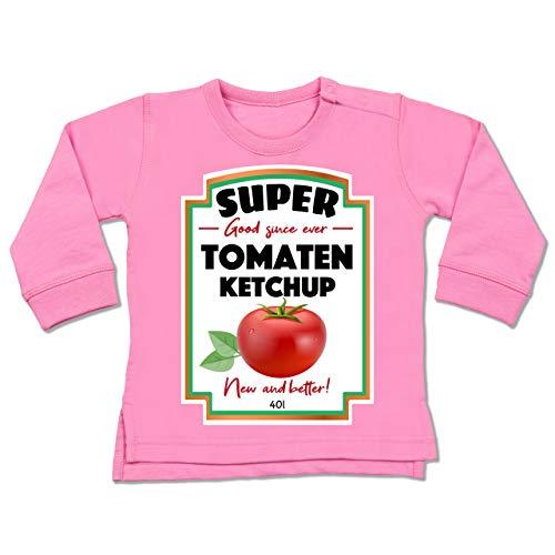 Shirtracer Karneval und Fasching Baby - Ketchup Kostüm Funny - 12-18 Monate - Pink - BZ31 - Baby (Ketchup Kostüm Baby)