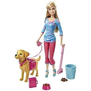 Mattel Barbie BDH74 - Barbie und Stubenreines Hündchen, Puppe mit viel Zubehör