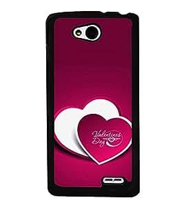 PrintVisa Designer Back Case Cover for LG L90 :: LG L90 Dual (Valentine Day Two Heart Pattern)