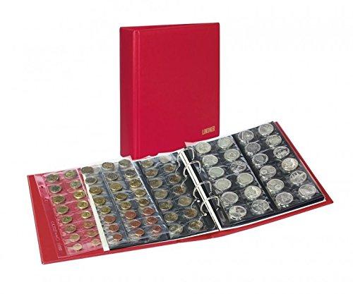 Album numismatique PUBLICA M COLOR [Lindner S3540M], Avec 10 feuilles numismatiques - Couleur: Berry (rouge)