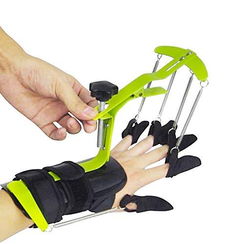 GUANGBO Handtrainer Multifunktional Aktiv Passiv Handgelenk Finger Dynamisch Orthese Aluminiumlegierung Unterstützung Rahmen Erwachsener Finger Trainer Links und rechts Allgemeiner Zweck -