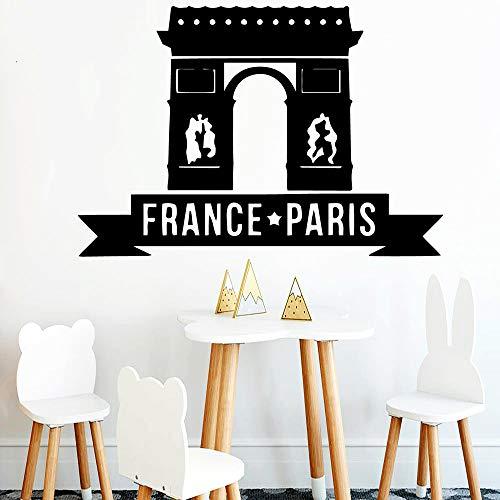 zhuziji Paris Wandaufkleber Vinyl Wasserdicht Home Decoration Zubehör PVC Wandtattoos Vinilo Decorativo N 42 cm X 61 cm