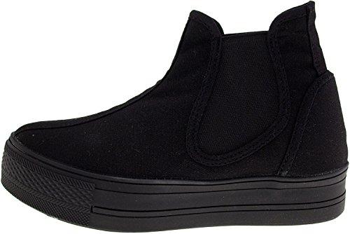 Maxstar  C30-SideSpan, Chaussons montants femme Noir - noir