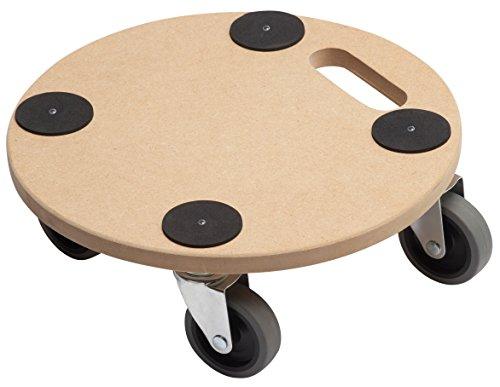 Metafranc Pflanzenroller Ø 350 mm - 150 kg Tragkraft - MDF-Platte - TPE-Räder / Möbelroller / Untersetzer mit Rollen / Transporthilfe für Pflanzen / 821360 -