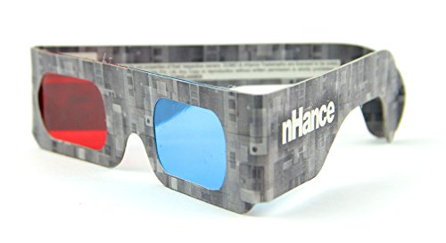 DOMO nHance RB4B Anaglyph Passive Cyan and Magenta Red and Blue Paper 3D Video Glasses (Pack of 4 pcs)  available at amazon for Rs.129