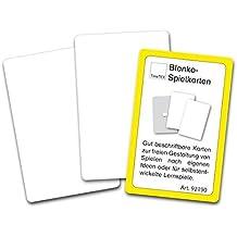 TimeTEX Blanko-Spielkarten im Etui - Einseitig weiß - 59 Karten - Format: 59 x 91 mm - 92190