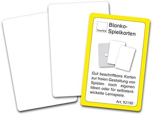 Blanko-Spielkarten im Etui