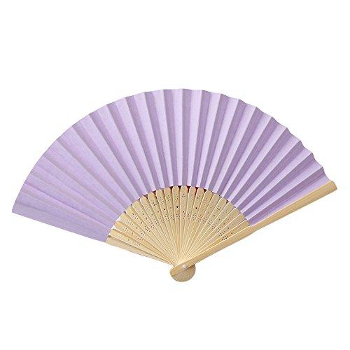 BHYDRY Muster, das Tanz-Hochzeitsfest-Spitze-Seide faltende Handfestfarben-Fan faltet