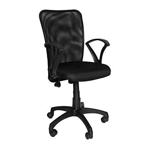 CELLBELL C83 Back Office Mesh Mid-Back Revolving Chair[Black]