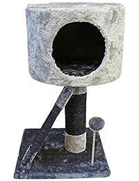 Nobleza 019922 - Juguete rascador Para Gatos, Tipo Árbol con Varias Plataformas y Cueva.